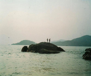 beach, ocean, and vintage image