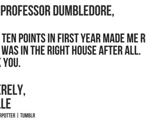 dumbledore, harry potter, and Letter image