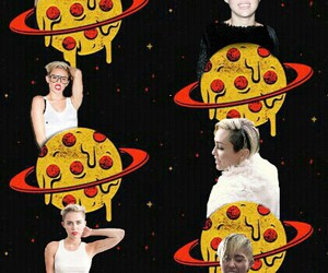 edit, miley cyrus, and pizza image