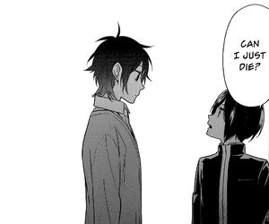 black and white, manga, and horimiya image