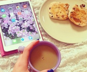 bed, coffe, and nails image