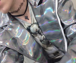 grunge, holographic, and pale image