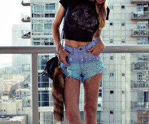 denim, leopard, and print image