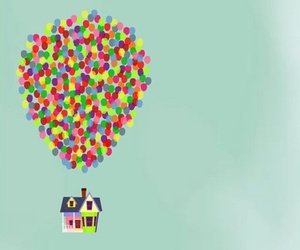 up, art, and balloons image