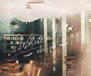 vintage, books, and cafe image