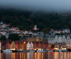 fog, lights, and norway image
