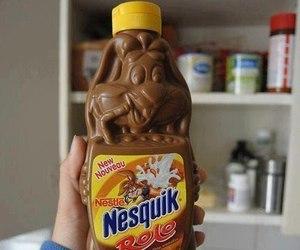 nesquik, chocolate, and food image