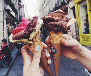 food, ice cream, and chocolate image