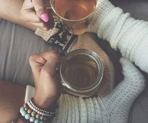 tea, autumn, and socks image