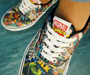 comics, Marvel, and shoes image