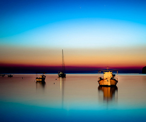 boats, colors, and Greece image