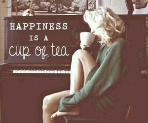 tea, happiness, and cup image