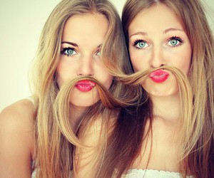 blonde, lips, and moustache image