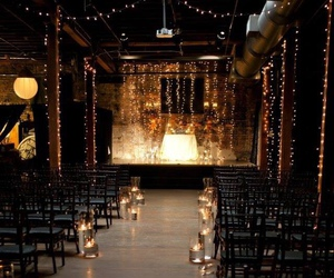 wedding, lights, and candle image