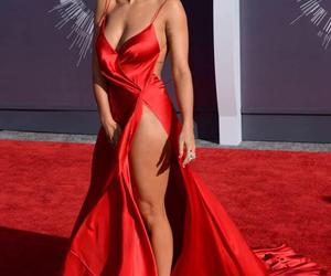 red carpet, red dress, and rita ora image