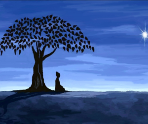 tree, alone, and blue image