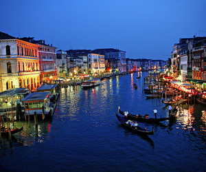 boats, venice, and canal image