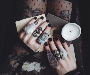 rings, dark, and witch image