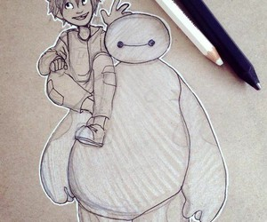 baymax, art, and best friends image