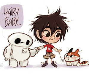 baymax, big hero 6, and cat image