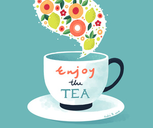 cup, tea, and wallpapers image
