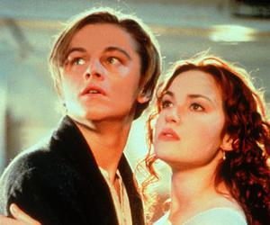 titanic, kate winslet, and leonardo dicaprio image