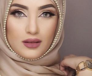 makeup, hijab, and style image
