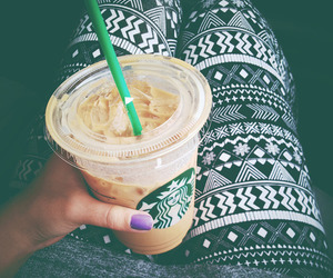 starbucks, coffee, and leggings image