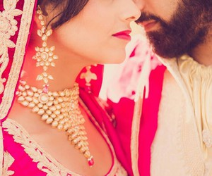 couple, punjabi, and wedding image