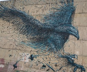 bird, color, and street art image