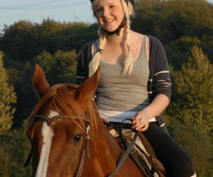 blond and horse image