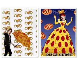 king, pizza, and Queen image