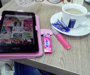 bubblegum, coffee, and fashion image