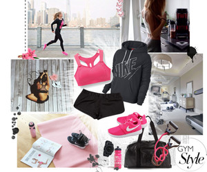 fitness, fucsia, and girl image