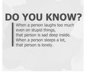 sad, lonely, and laugh image