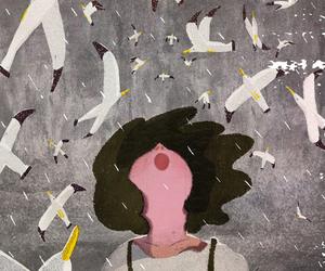 art, girl, and illustration image