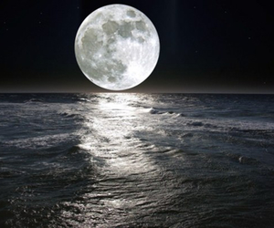 moon, sea, and love image