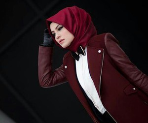 hijab and red image