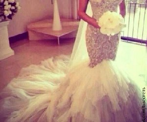 girl, luxury, and wedding dress image