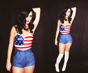 katy perry, america, and american flag image