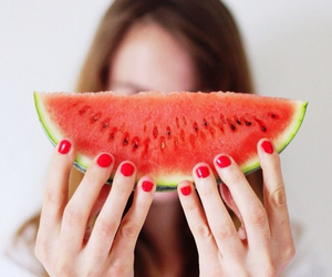 food, nails, and fruit image