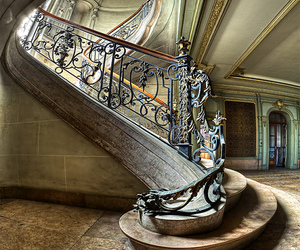 stairs, architecture, and staircase image