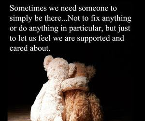 love, support, and teddy bear image