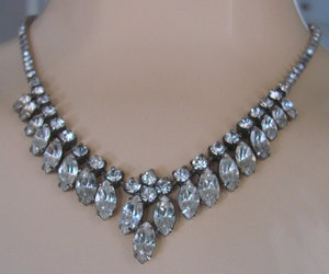 50s jewelry and 50s rhinestone necklace image
