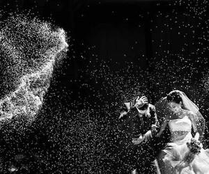 black&white and wedding image