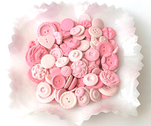 buttons, candy, and pink image