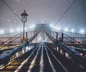 snow, city, and light image
