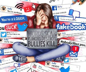 bully, bullying, and facebook image
