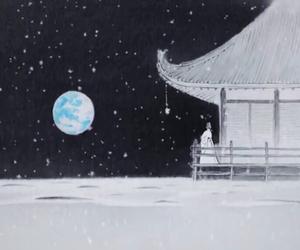 art, ghibli, and moon image