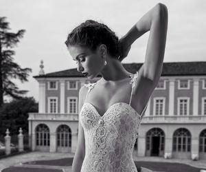 model and wedding dress image